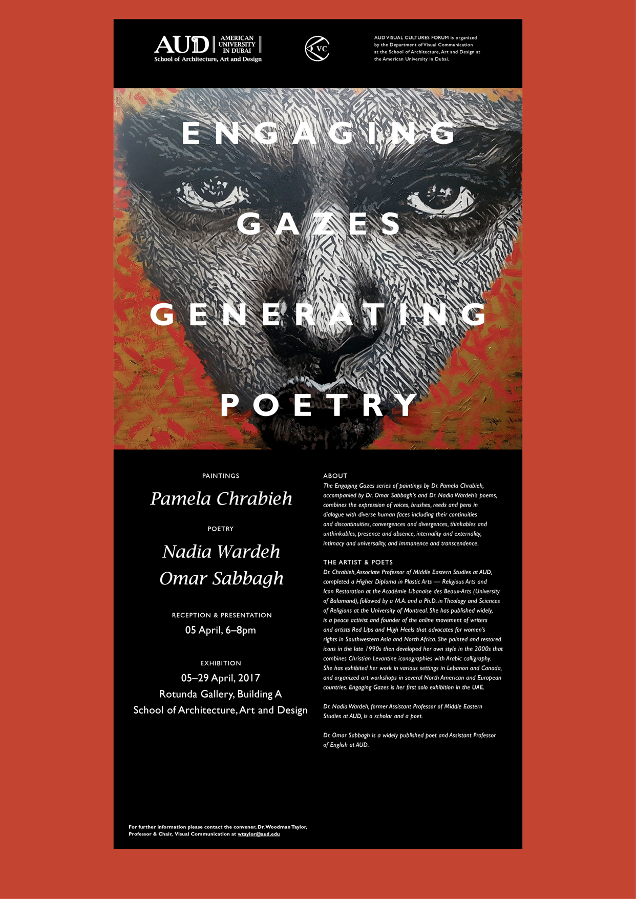 pamela chrabieh engaging gazes exhibition poster