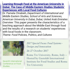 Pamela Chrabieh Rome 2017 Food Studies Conference
